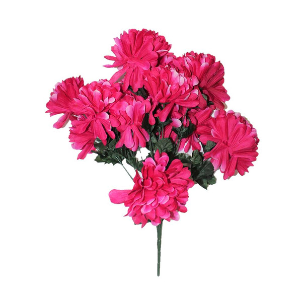 "20"" Fuchsia Bunch Chrysanthemum Flower"