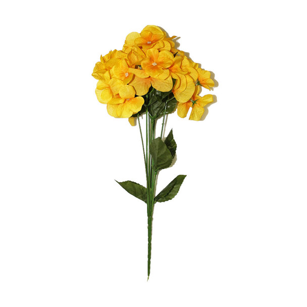 "14"" Yellow Hydrangea Bunch Flower"