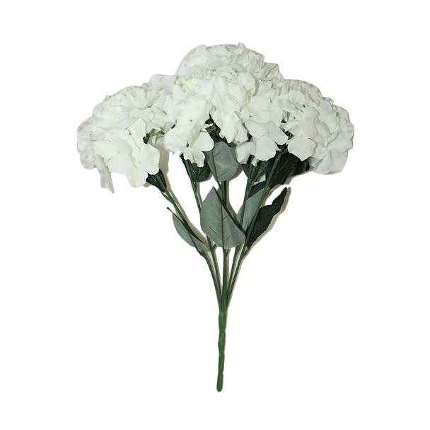 """20""""  White Hydrangea Bunch Flower"""