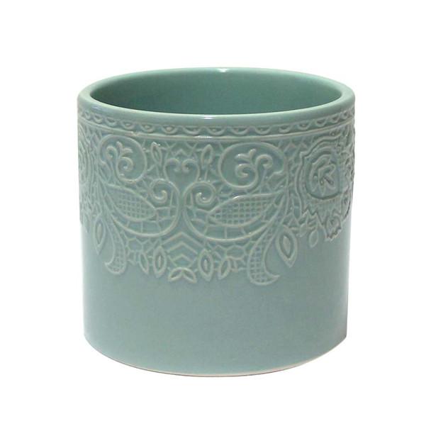 """4.5""""H  Blue Ceramic Cylinder"""