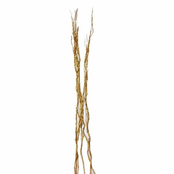 "58"" Gold Glittered Salix Bunch"