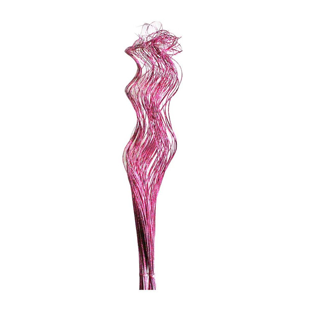 """24""""-28"""" Fuchsia Sparkle Curly Willow Ting"""