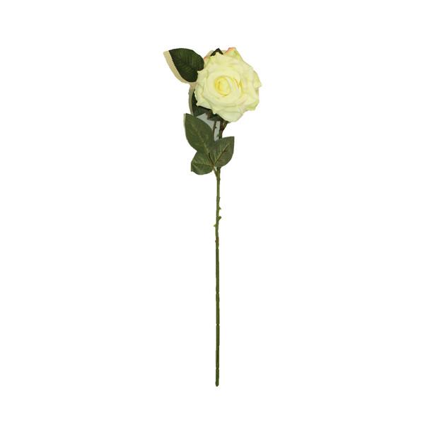 """20"""" White Long Stem Single Rose Flower"""