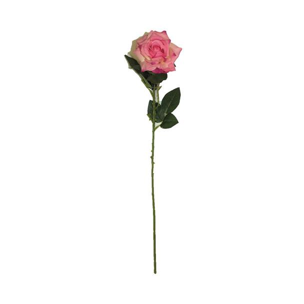 "20"" Hot Pink long Stem Single Rose Flower"