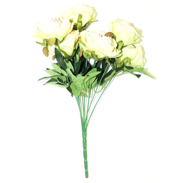 "15"" Bunch Of Roses, 9 Stems. White And Pink"