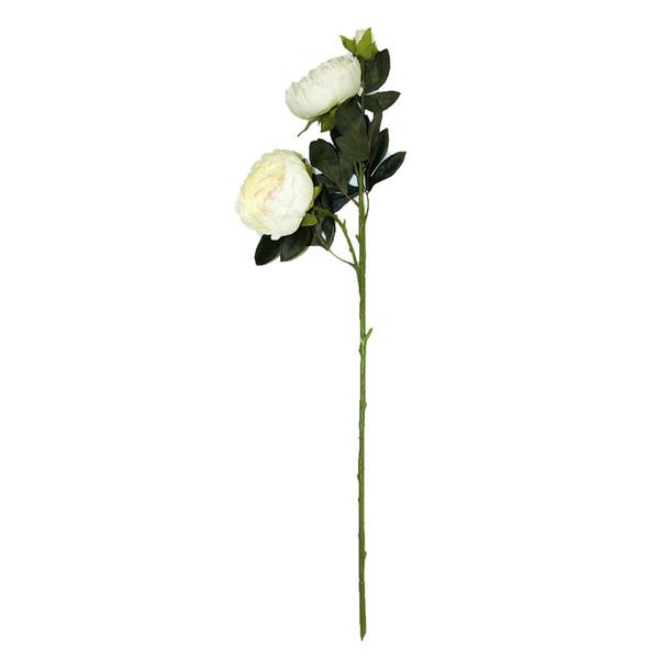 "34""  White Long Stem Peony Flower"