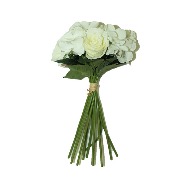 "13"" White  Bunch Bouquet Flowers"