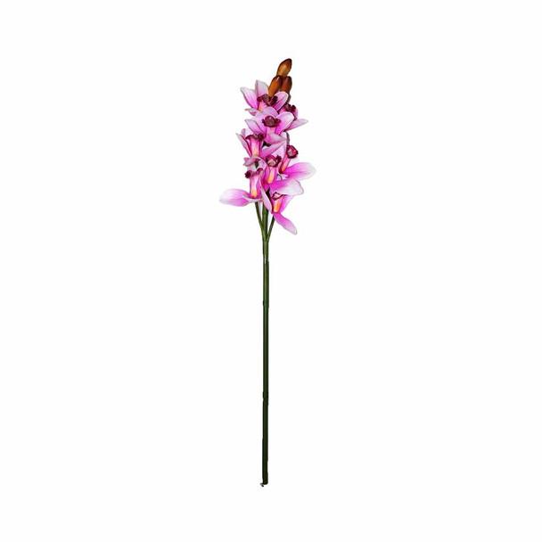 "32"" Artificial Cymbidium Orchids. Fuchsia"