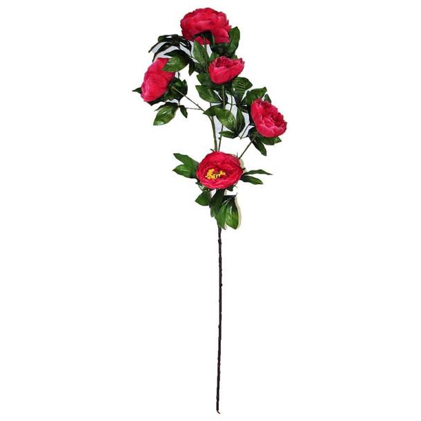 "45"" Fuchsia Long Stem Peony Flower"