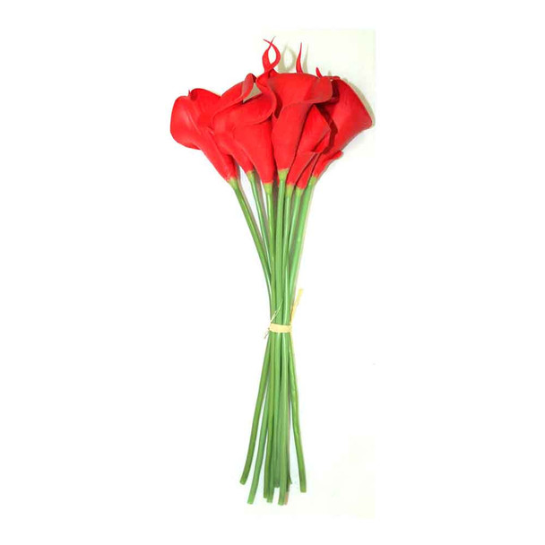 "14"" Bunch Mini Cala 10 Stems. Red"