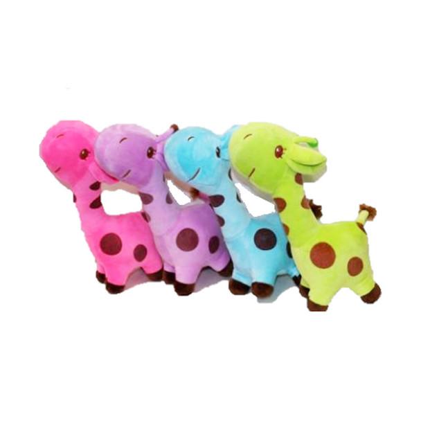 "10.5"" Assorted Color Giraffe Plush"
