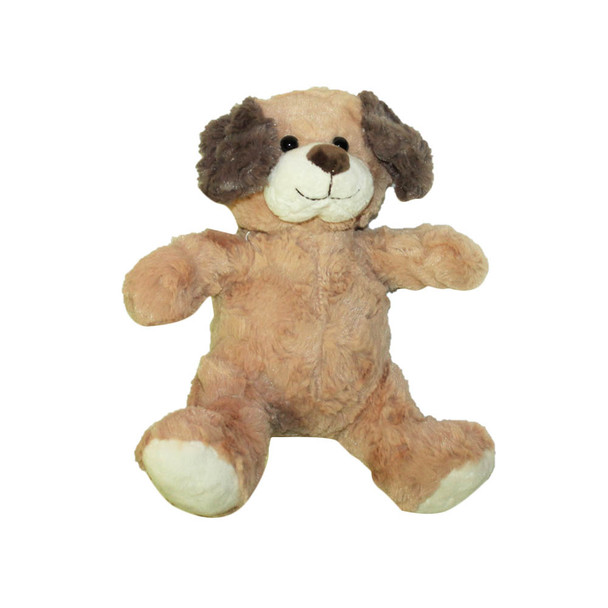 "10""   L. Brown Plush Baby Dog"