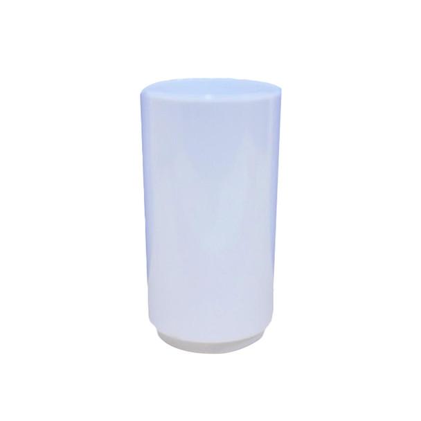 "3""  White  Dessert Cylinder 12 PCs /Pack"