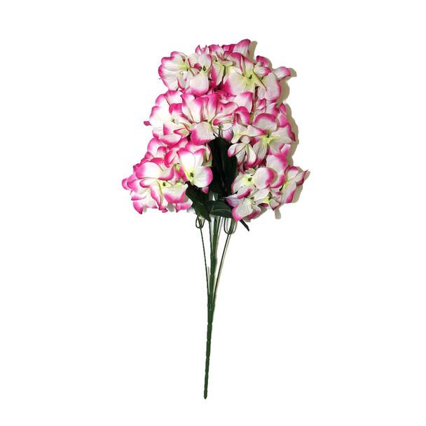 "18""  Fuchsia And White Hydrangea Bunch Flower"