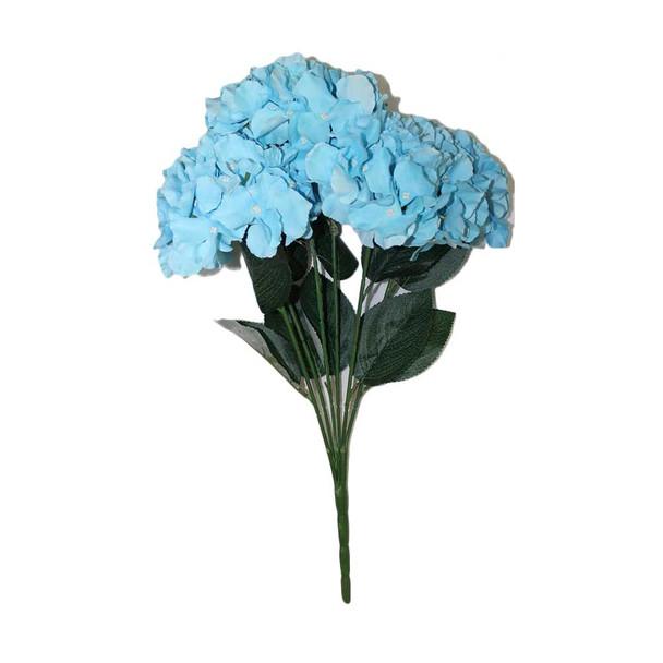"""20""""  L. Blue Hydrangea Bunch Flower"""
