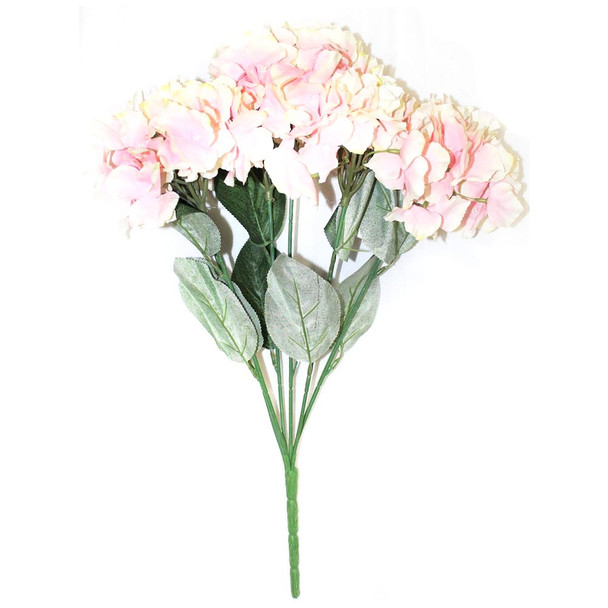 "20""  Pink and Ivory Hydrangea Bunch Flower"