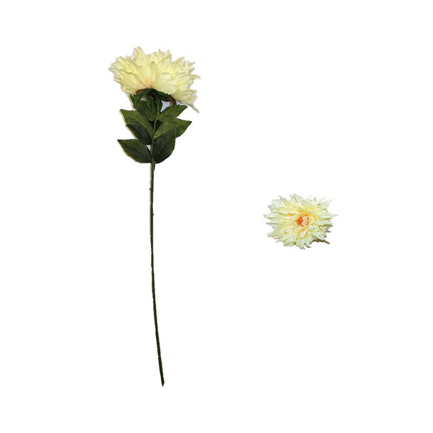 "30"" Chrysantemum. Long Branch. Ivory Yellow"