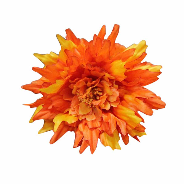 "27"" Orange Long Stem Single Chrysanthemum Flower"