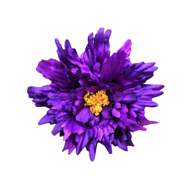 "27"" Purple Long Stem Single Chrysanthemum Flower"