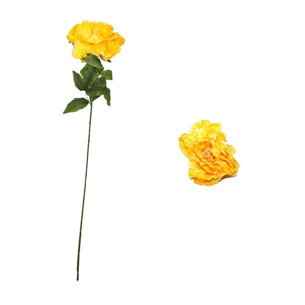 "30""  Yellow Long Stem Peony Flower"