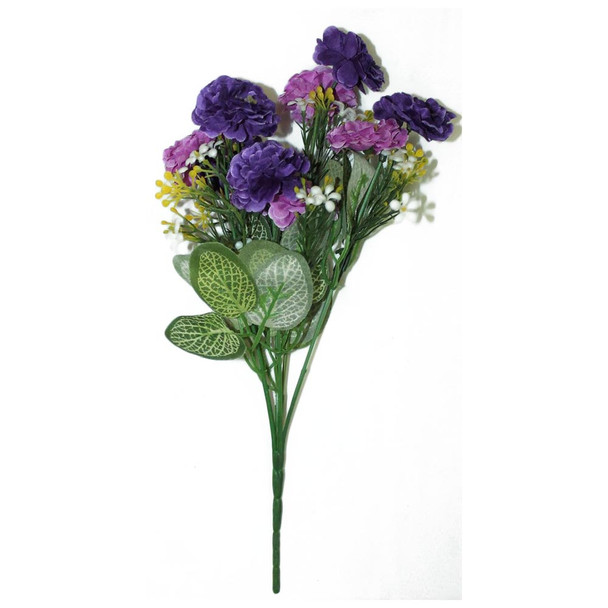 "12"" Purple And Amethyst Short Bunch Flower"