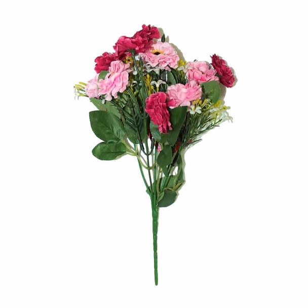 "12"" Pink And Magenta Short Bunch Flower"