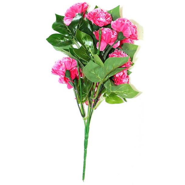 """12"""" Magenta Short Bunch Flower"""