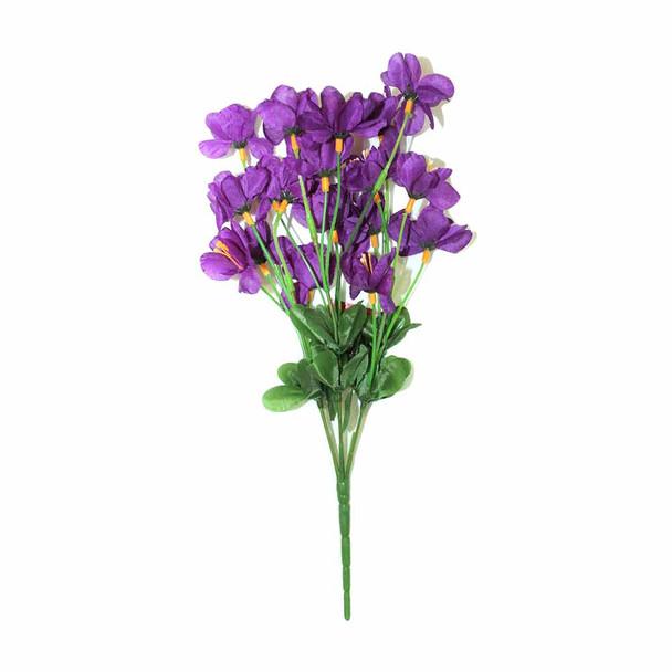 "12"" Purple Short Bunch Flower"