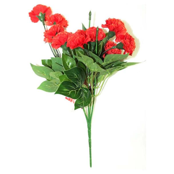 "12"" Sun-kissed Orange Short Bunch Flower"