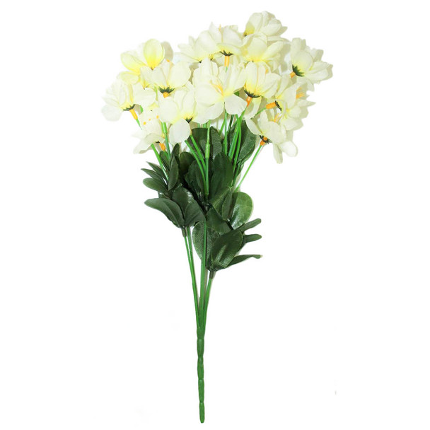 """12"""" Light Yellow Short Bunch Flower"""