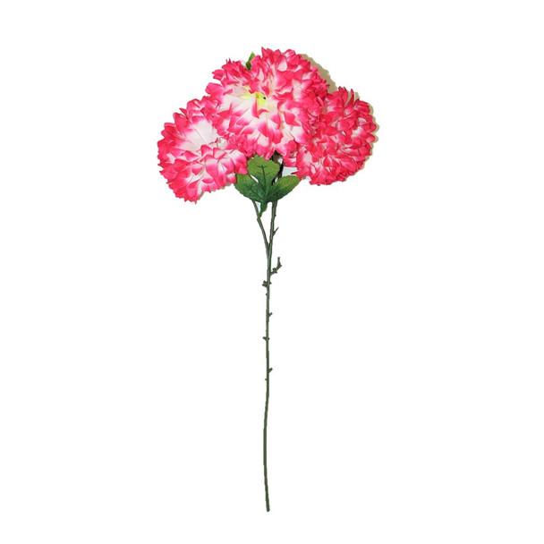 "30"" Fuchsia Long Stem Ball Mum Flower"