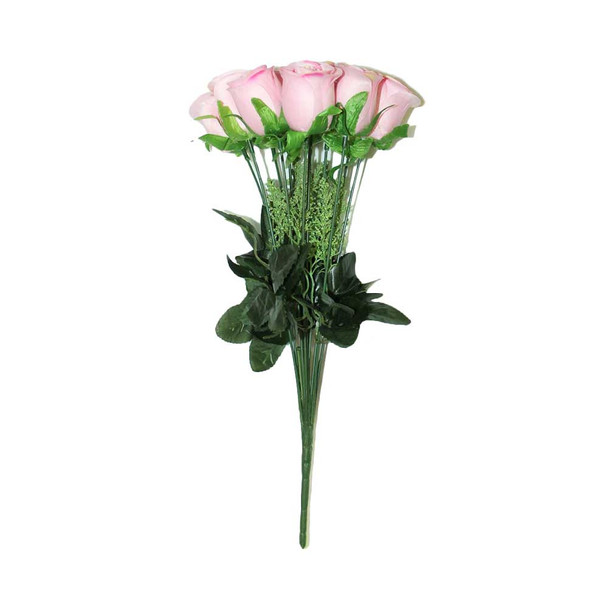 """15"""" Bunch Of Roses, 12 Stems. Pink"""