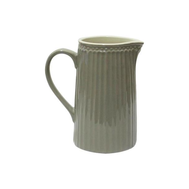 "6.5""H Grey Ceramic Pitcher"