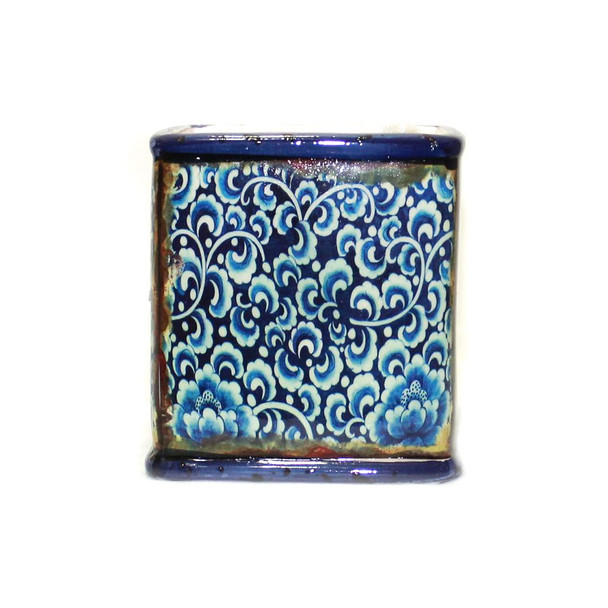 "4"" Mosaic Ceramic Cube-b"