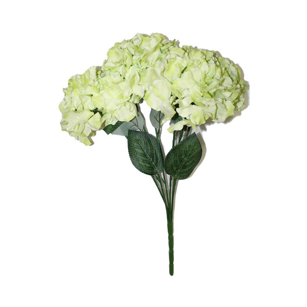 "20""  Green Hydrangea Bunch Flower"