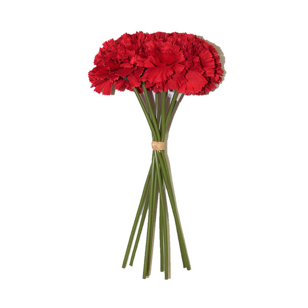"""12"""" Bunch 8 Stems Of Carnation. Red"""