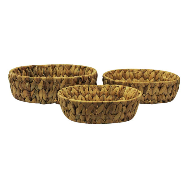 Oval Banana Leaf Basket Set of 3