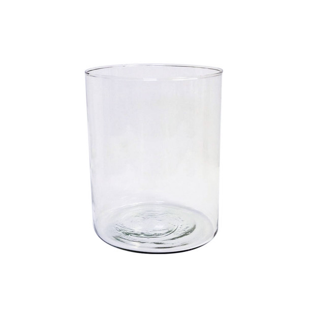 """8""""H Mexican Glass Cylinder Vase"""