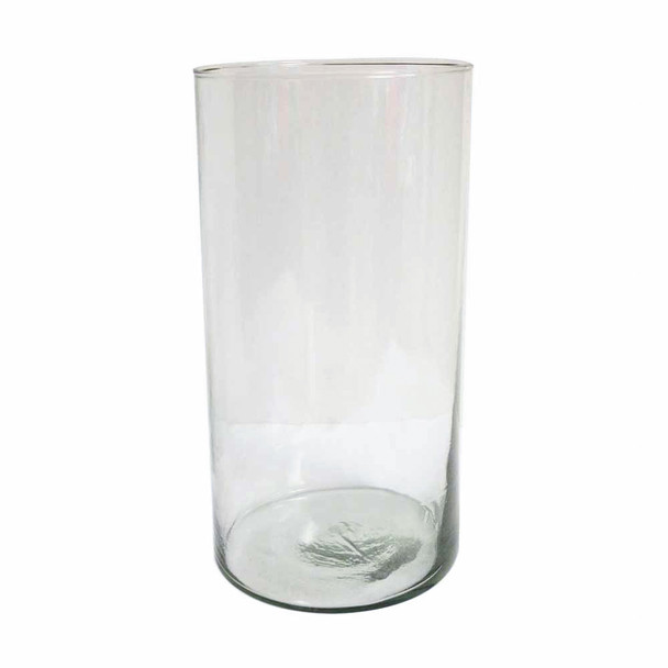 """12""""H Mexican Glass Cylinder Vase"""