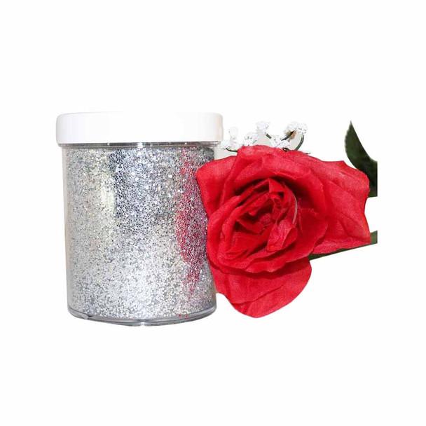 11.5 Oz Silver Glitter