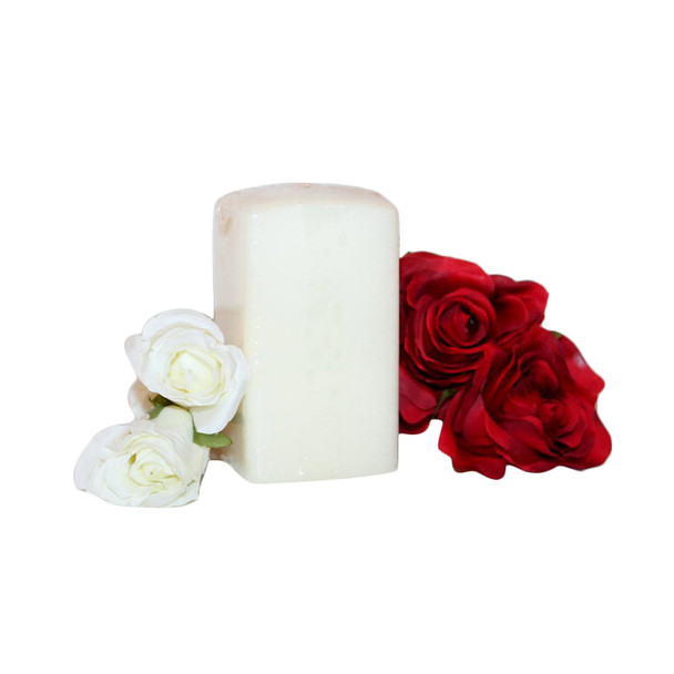 "2.75"" X 5"" Ivory Square Pillar Candle"