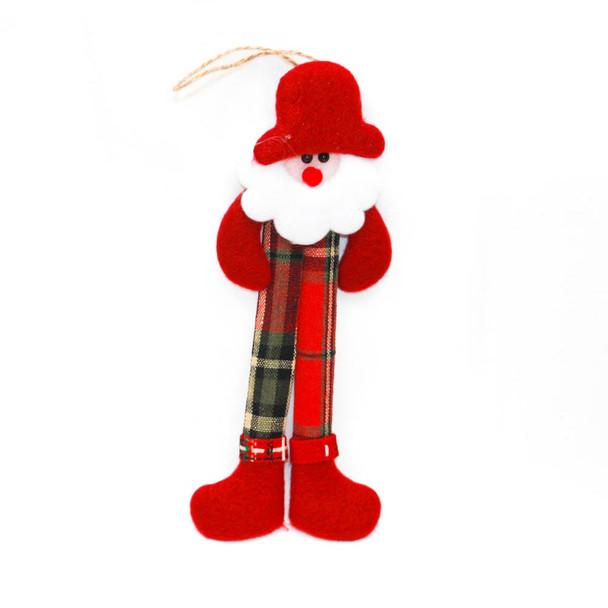 Hanging Burlap Snowman Christmas Ornament
