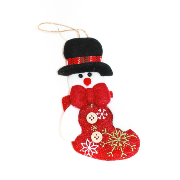 Hanging Snowman Christmas Ornament