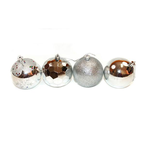 Silver Christmas Ornaments - Shatterproof