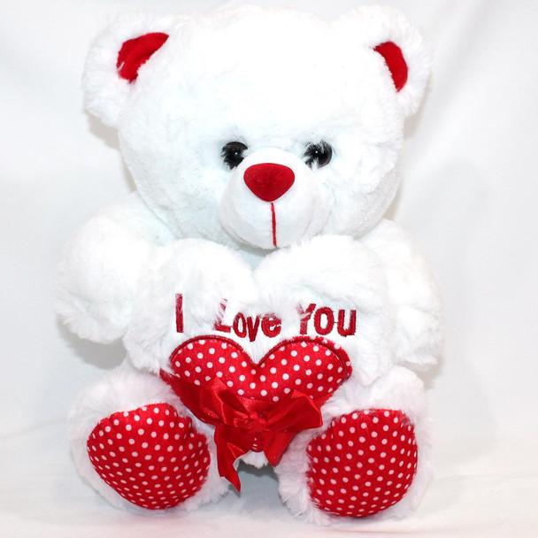"12"" I Love You White Teddy  Bear"
