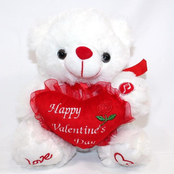 """8"""" Happy Valentines Day White Bear"""