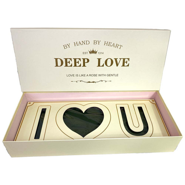 Ivory Deep Love Floral Gift Box with Fresh Foam