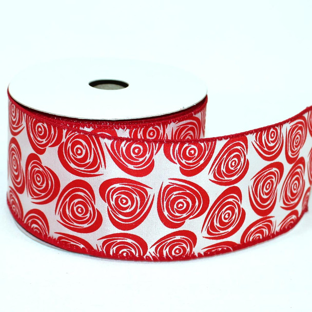 "2.5"" Red Chiffon Ribbon"