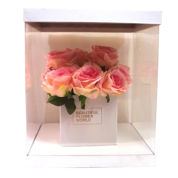 Large White Flower Display Box