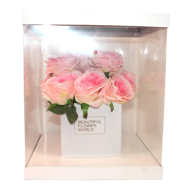 Large White Flower Display Box